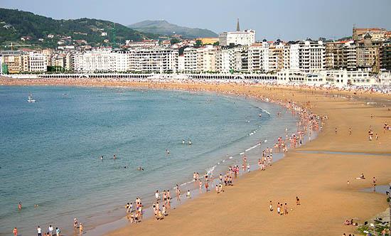San Sebastián, la concha del Cantábrico