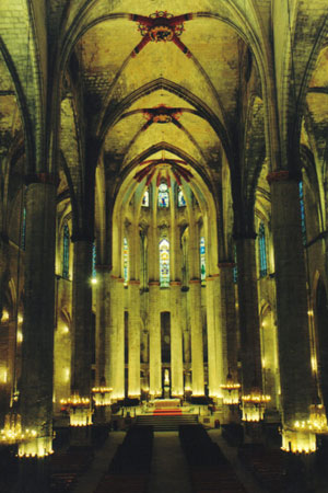 La Catedral de Santa María del Mar en Barcelona