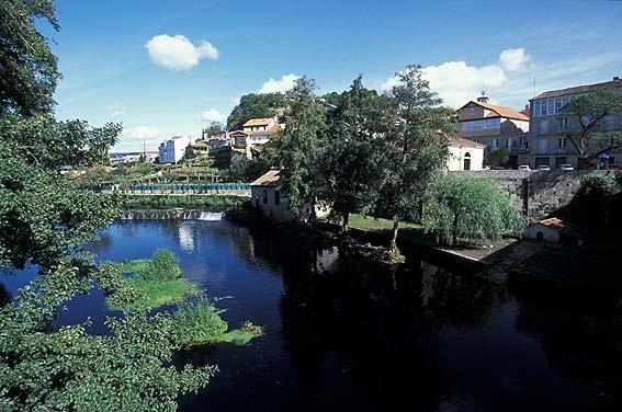 Allariz y el rio Arnoia
