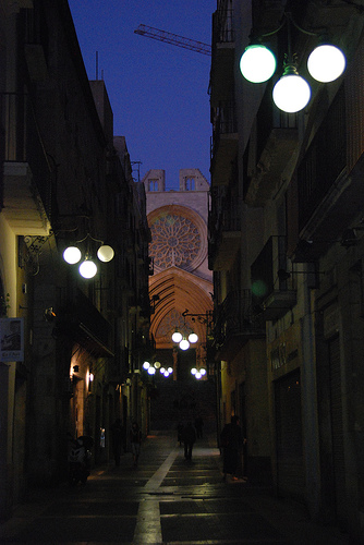 Calle Mayor de noche