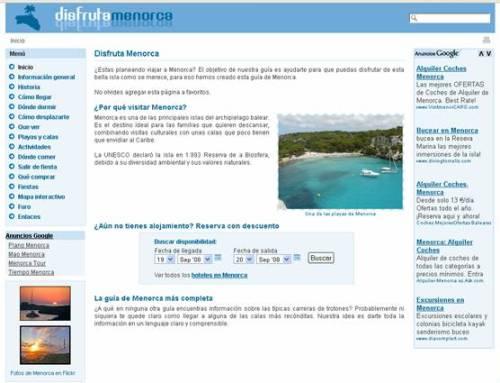Disfrutando de las playas y calas de Menorca