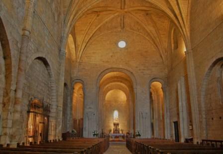 Interior de la Iglesia del Monasterio de Leire