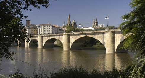 Logroño, el puente de la ruta jacobea
