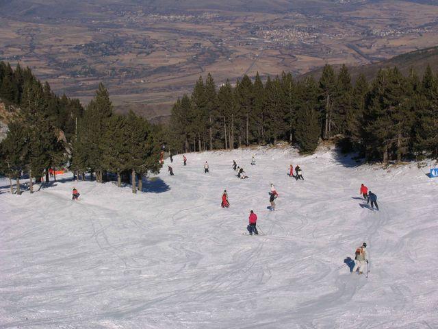 Esquiando en La Molina