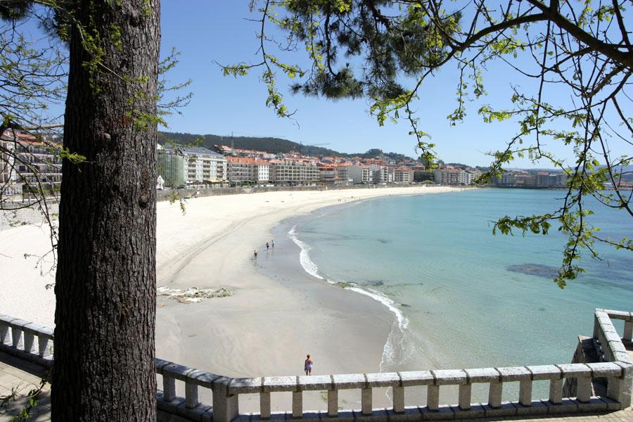 Playa del Silgar en Sanxenxo