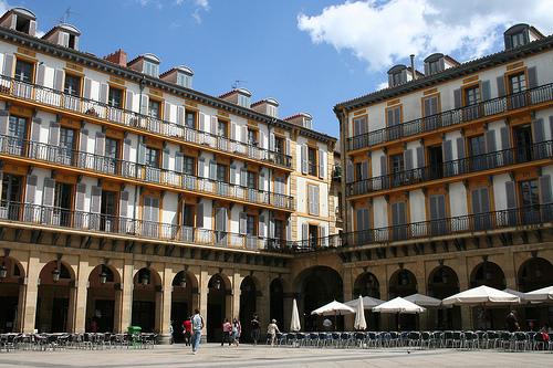 Plaza de la Constitucion en San Sebastian