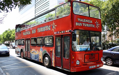Autobus turistico en Valencia