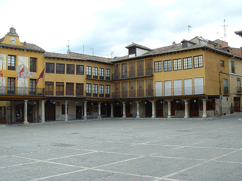 La Plaza Mayor de Tordesillas