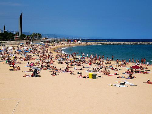 Recorrido por las playas en Barcelona