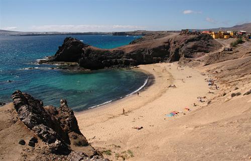 Playa del Papagayo, en Lanzarote