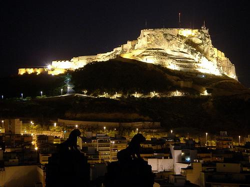 El Castillo de Santa Bárbara, en Alicante