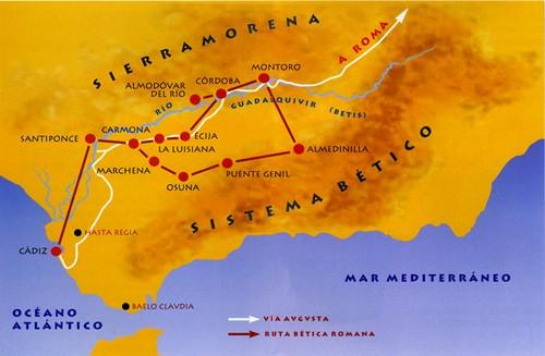Ruta Bética Romana desde Cadiz a Sevilla