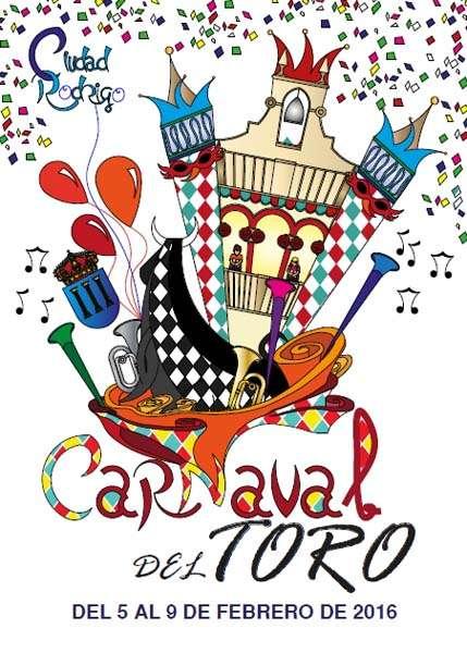 Cartel Carnaval del Toro en Ciudad Rodrigo 2016