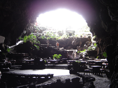 Cuevas de los Jameos del Agua en Lanzarote