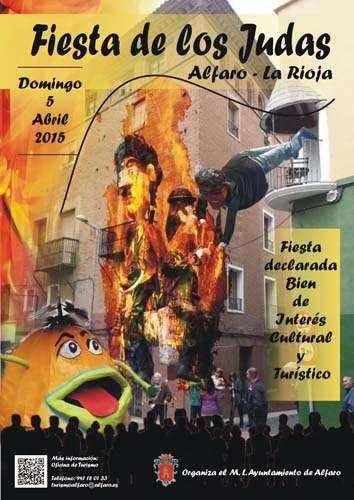 Cartel 2015 fiesta de los judas en Alfaro