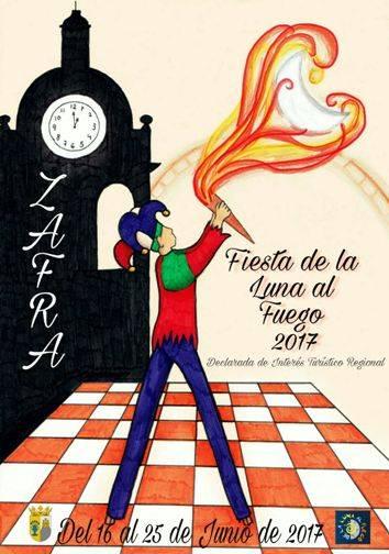 Cartel 2017 Fiesta de la Luna al Fuego de Zafra