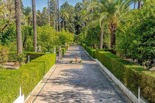 Jardínes de los Reales Alcazares de Sevilla