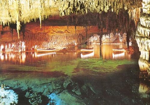 Visitando las Cuevas del Drach en Porto Cristo, Mallorca