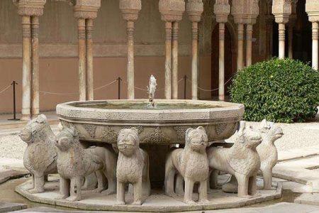 El Patio de los Leones, en la Alhambra de Granada