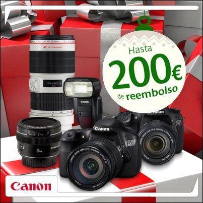 Tu cámara Canon con un reembolso de 200 euros