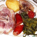 El lacón con grelos, plato típico gallego