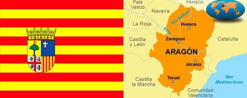 Bandera y Mapa de Aragón