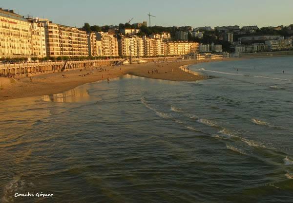 Playa de la Conche en San Sebastián