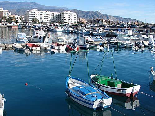 Puerto de Adra, en Almeria