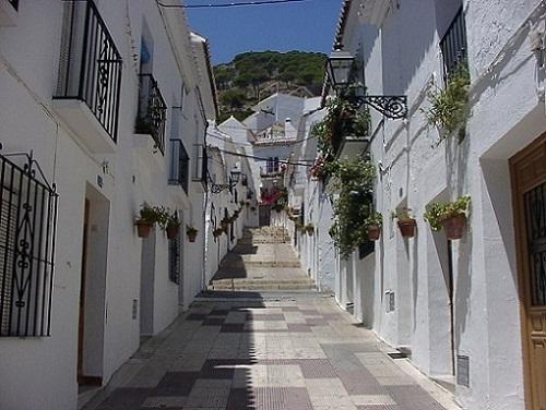 Mijas, terraza con vistas