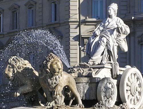 Estatua de la Cibeles, en Madrid