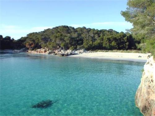 La Cala Turqueta en Menorca