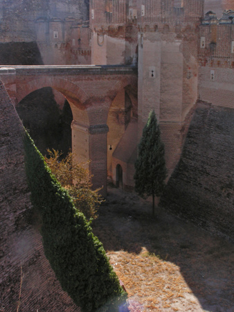 Interior del Castillo de Coca
