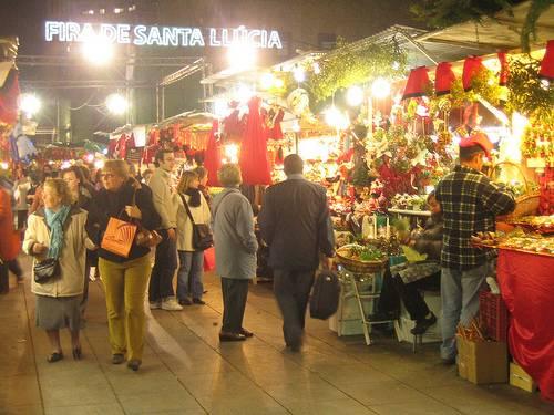 Fira de Santa Llúçia en Barcelona, olor a navidad