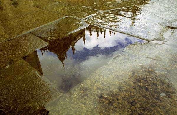 Lluvia en Santiago, clima de Galicia
