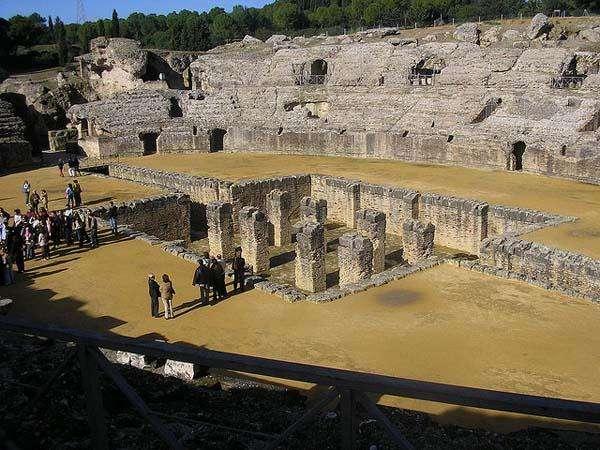Itálica, ruinas romanas en Sevilla