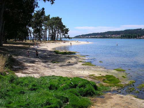 Playa en la isla de La Toja