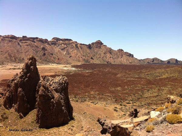 Los Llanos de Ucanca en el Parque Nacional del Teide