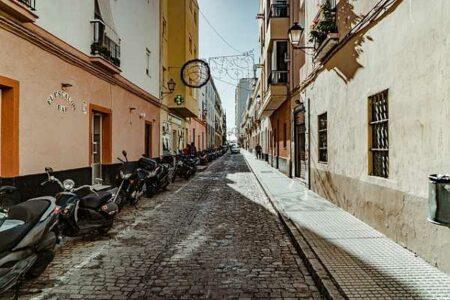 El barrio de la Viña, en Cádiz