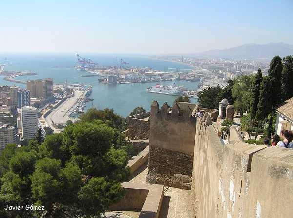 Vistas de Málaga desde la Alcazaba