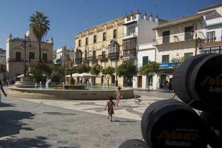 La plaza del Cabildo en Sanlúcar de Barrameda