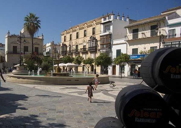 Plaza del Cabildo, en Sanlúcar de Barrameda